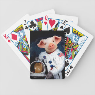 Astronaut pig - space astronaut bicycle playing cards