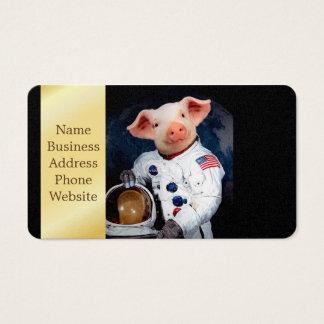Astronaut pig - space astronaut business card
