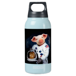 Astronaut pig - space astronaut insulated water bottle