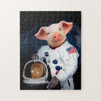 Astronaut pig - space astronaut jigsaw puzzle