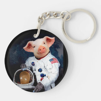 Astronaut pig - space astronaut key ring