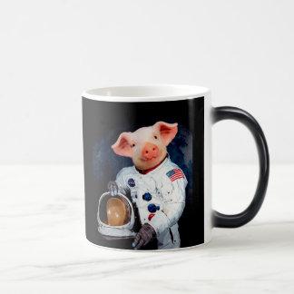 Astronaut pig - space astronaut magic mug