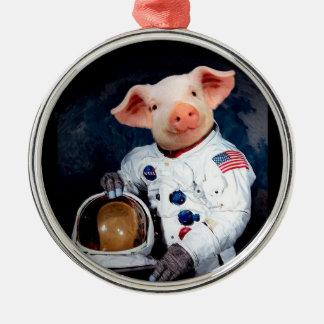Astronaut pig - space astronaut metal ornament