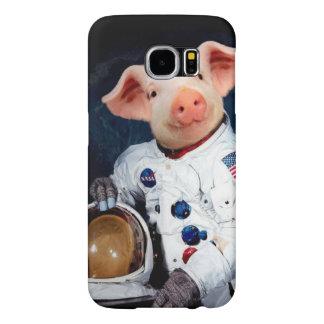 Astronaut pig - space astronaut samsung galaxy s6 cases