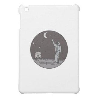 Astronaut Pointing Stars Moon Shuttle Mono Line iPad Mini Cases