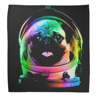 Astronaut pug - galaxy pug - pug space - pug art bandana
