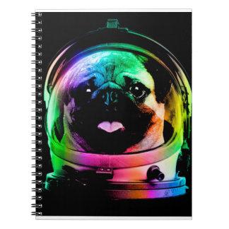 Astronaut pug - galaxy pug - pug space - pug art notebook