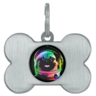 Astronaut pug - galaxy pug - pug space - pug art pet tag