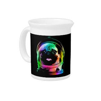 Astronaut pug - galaxy pug - pug space - pug art pitcher