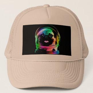 Astronaut pug - galaxy pug - pug space - pug art trucker hat
