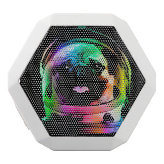 Astronaut pug - galaxy pug - pug space - pug art white bluetooth speaker