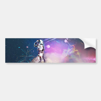 Astronaut Riding Super Nova Bumper Sticker