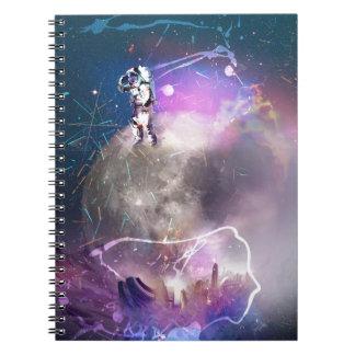 Astronaut Riding Super Nova Spiral Notebooks