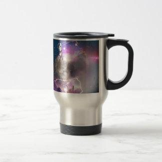 Astronaut Riding Super Nova Travel Mug