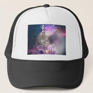 Astronaut Riding Super Nova Trucker Hat