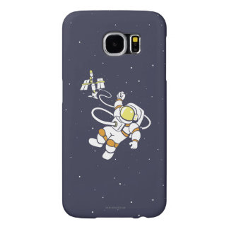 Astronaut Samsung Galaxy S6 Cases