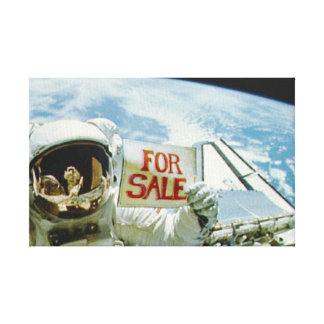 Astronaut Sells Earth Gallery Wrap Canvas