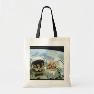 Astronaut Sells Earth Tote Bag