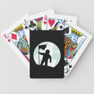 Astronaut Silhouette Bicycle Playing Cards