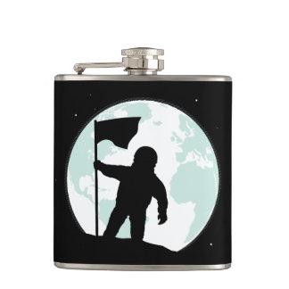 Astronaut Silhouette Hip Flask