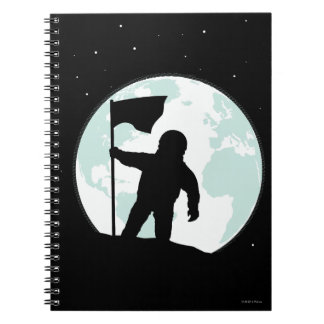Astronaut Silhouette Spiral Notebook