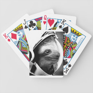 Astronaut Sloth Bicycle Playing Cards