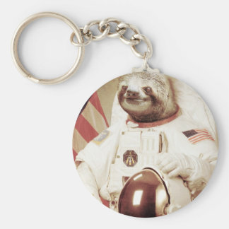 Astronaut Sloth Keychains