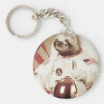 Astronaut Sloth Keychains