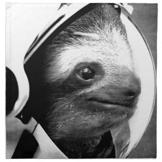 Astronaut Sloth Napkin