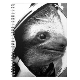 Astronaut Sloth Spiral Notebook