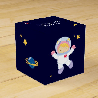 Astronaut Space Birthday Party Personalized Favour Box