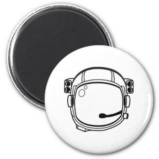 Astronaut Space Helmet 6 Cm Round Magnet