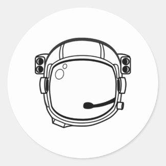 Astronaut Space Helmet Classic Round Sticker