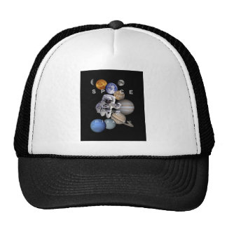 astronaut space mission solar system planets cap