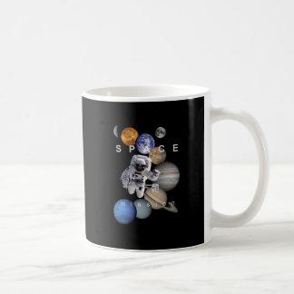 astronaut space mission solar system planets coffee mug