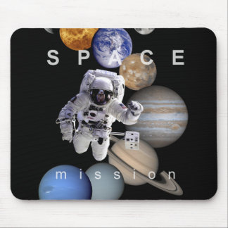 astronaut space mission solar system planets mouse pad