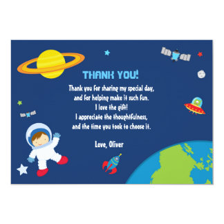 Astronaut Space Thank You Card