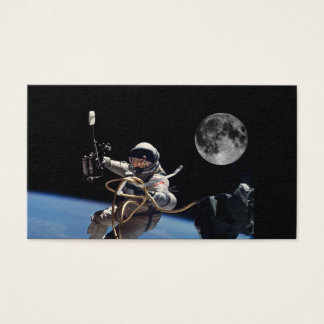 Astronaut Space Walk Moon Business Card