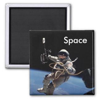 Astronaut Space Walk Square Magnet