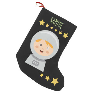 Astronaut - Spaceman Stars In Space Small Christmas Stocking