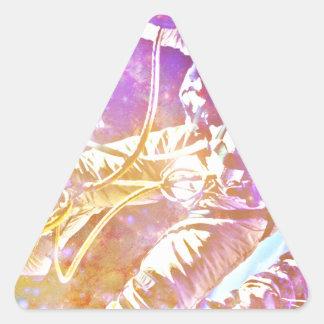 Astronaut Triangle Stickers