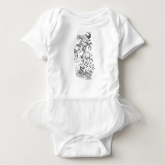 Astronaut Tethered to Caravel Tattoo Baby Bodysuit