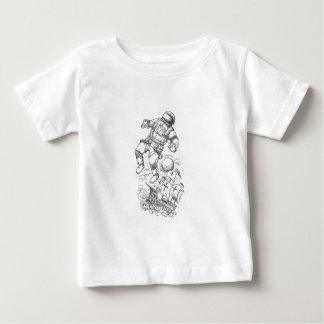 Astronaut Tethered to Caravel Tattoo Baby T-Shirt
