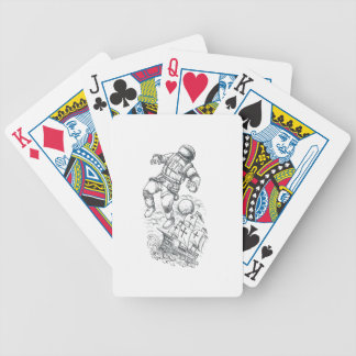 Astronaut Tethered to Caravel Tattoo Bicycle Playing Cards