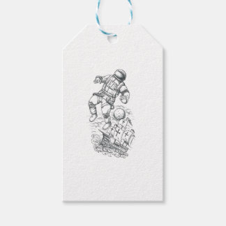 Astronaut Tethered to Caravel Tattoo Gift Tags