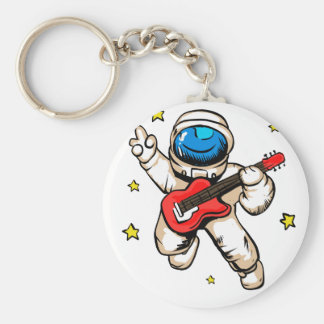Astronaut victory gesture key ring