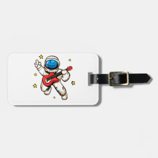 Astronaut victory gesture luggage tag