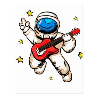 Astronaut victory gesture postcard