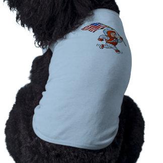 Astronaut with american flag sleeveless dog shirt