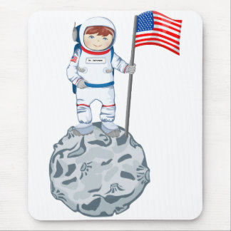 Astronaut with name tag mousepad